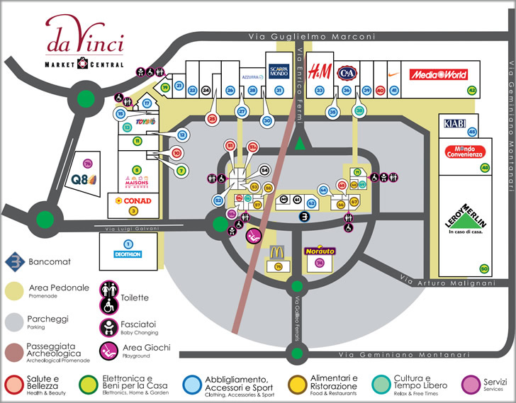 Da Vinci Market Central - Comune di Fiumicino, Decathlon, Media World ...